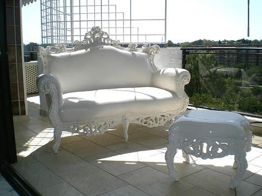 divanetto barocco per esterno, divano resistente alle ...