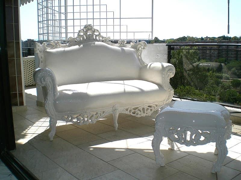 Divanetto barocco per esterno resistente alle intemperie for Divano esterno legno
