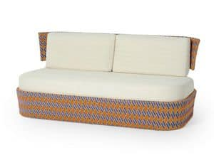 Kente divano, Divano dai vivaci colori, per giardini e terrazze