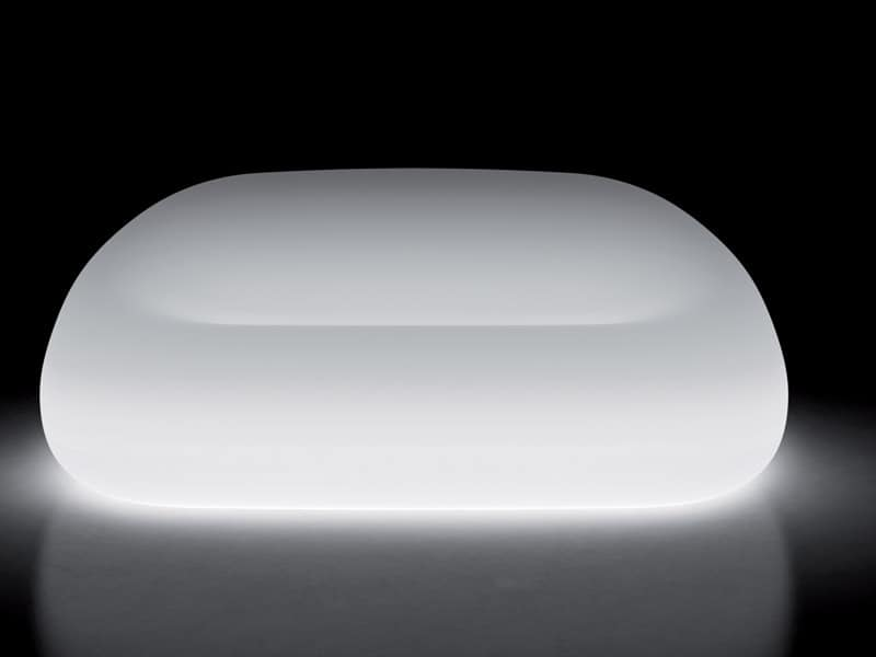 LT SOFA / 2P, Divano impermeabile in policarbonato, luce inclusa, Albergo