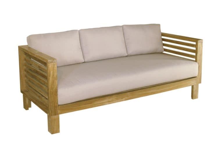Saint tropez 212 divanetto da esterno in teak con cuscini - Divanetti da esterno in legno ...