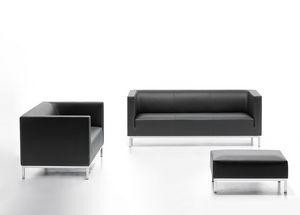 Argo 02 03, Elegante divano in ecopelle, per sala attesa