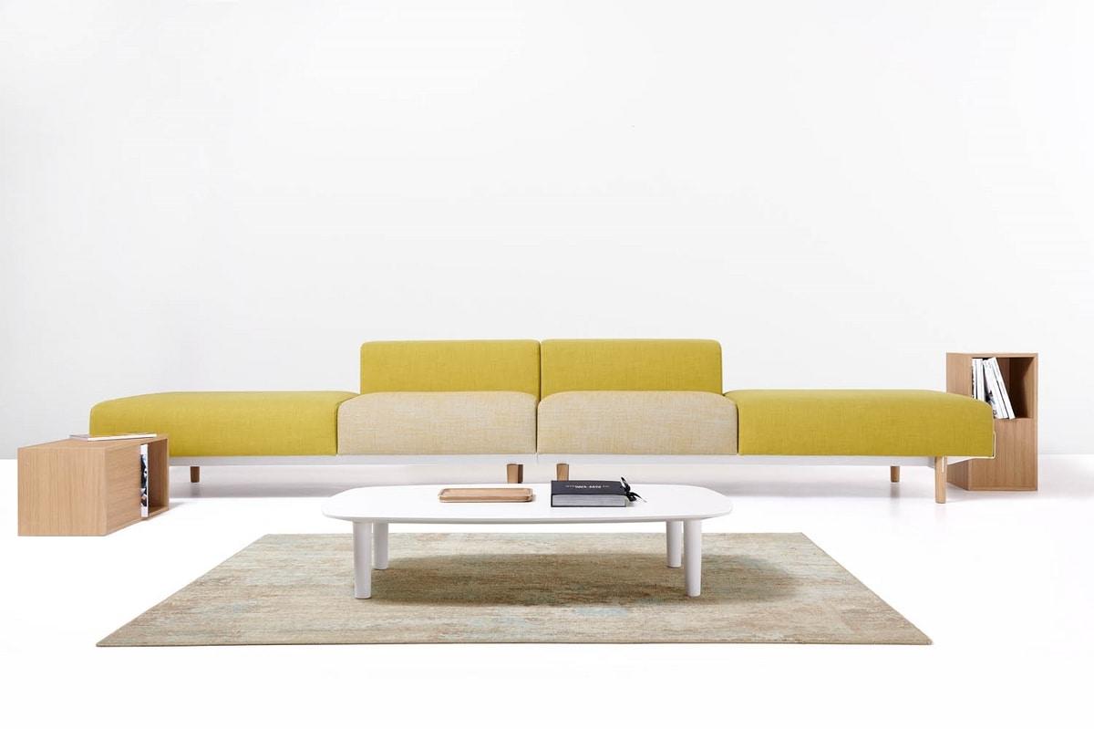 Bread composizioni, Divano lineare, componibile, per aree attesa e ufficio