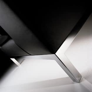 CUBE, Divanetto lineare a 2 posti, piedini in metallo, per Uffici