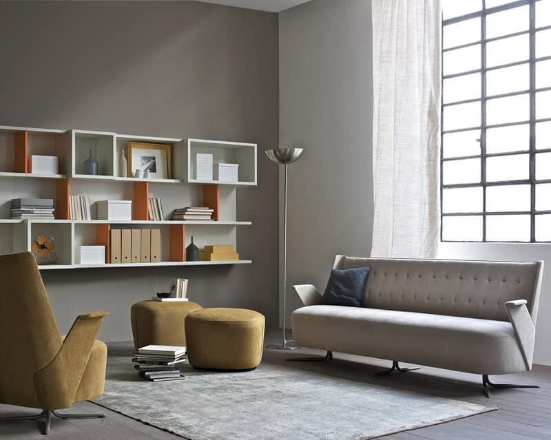 Divano compatto per uffici moderni idfdesign for Divano ufficio