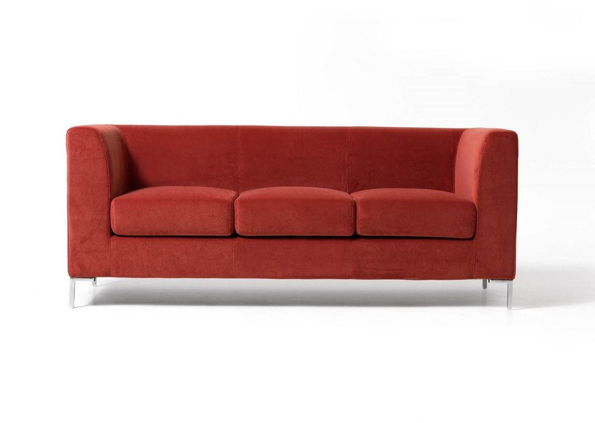 divano 3 posti imbottito semplice per studio medico