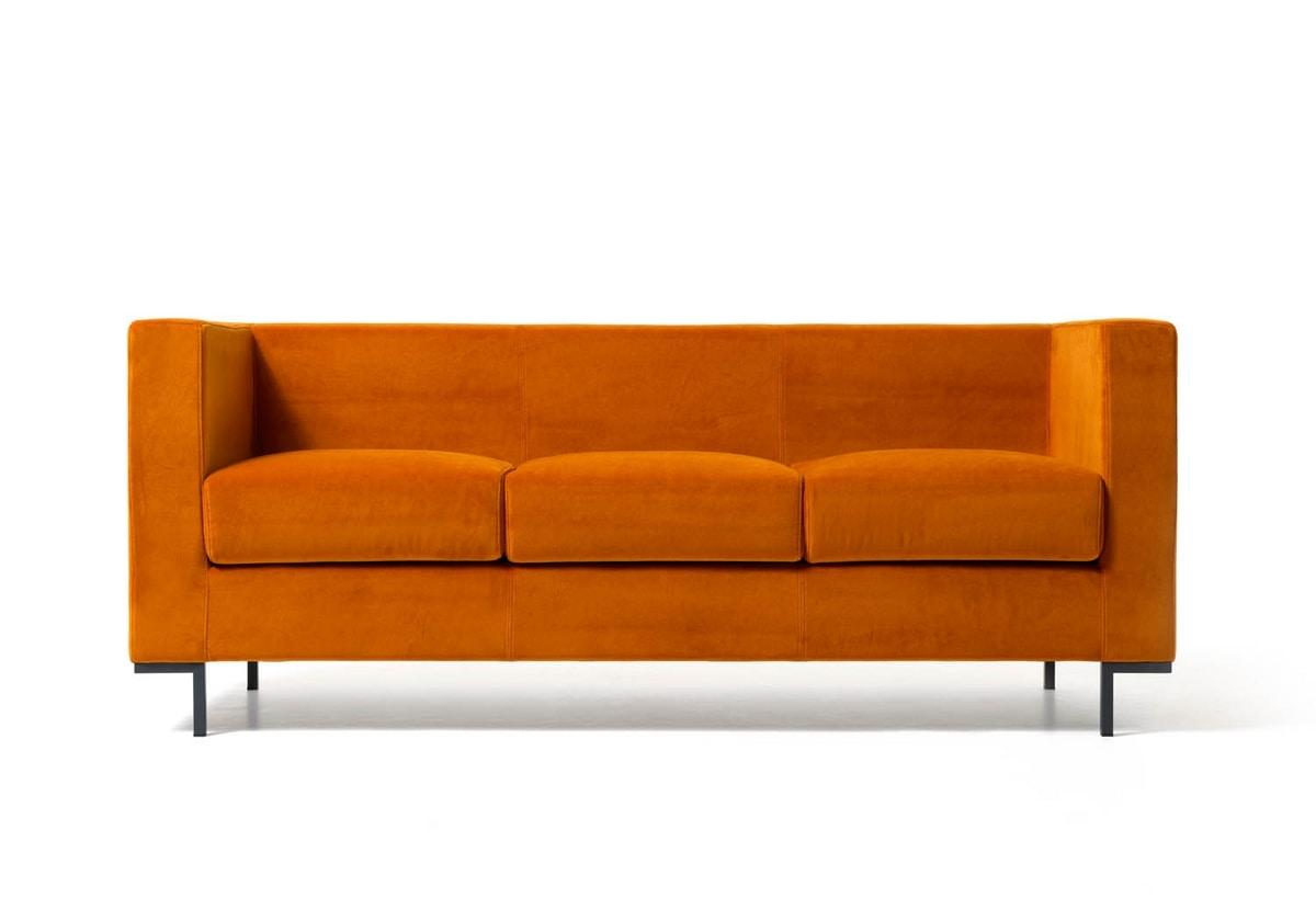 divanetto per sale da attesa moderne piedi in alluminio