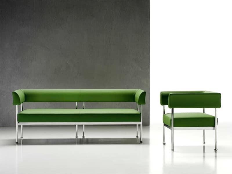 Jive 3p sedute modulari salotto idfdesign for Divano ufficio