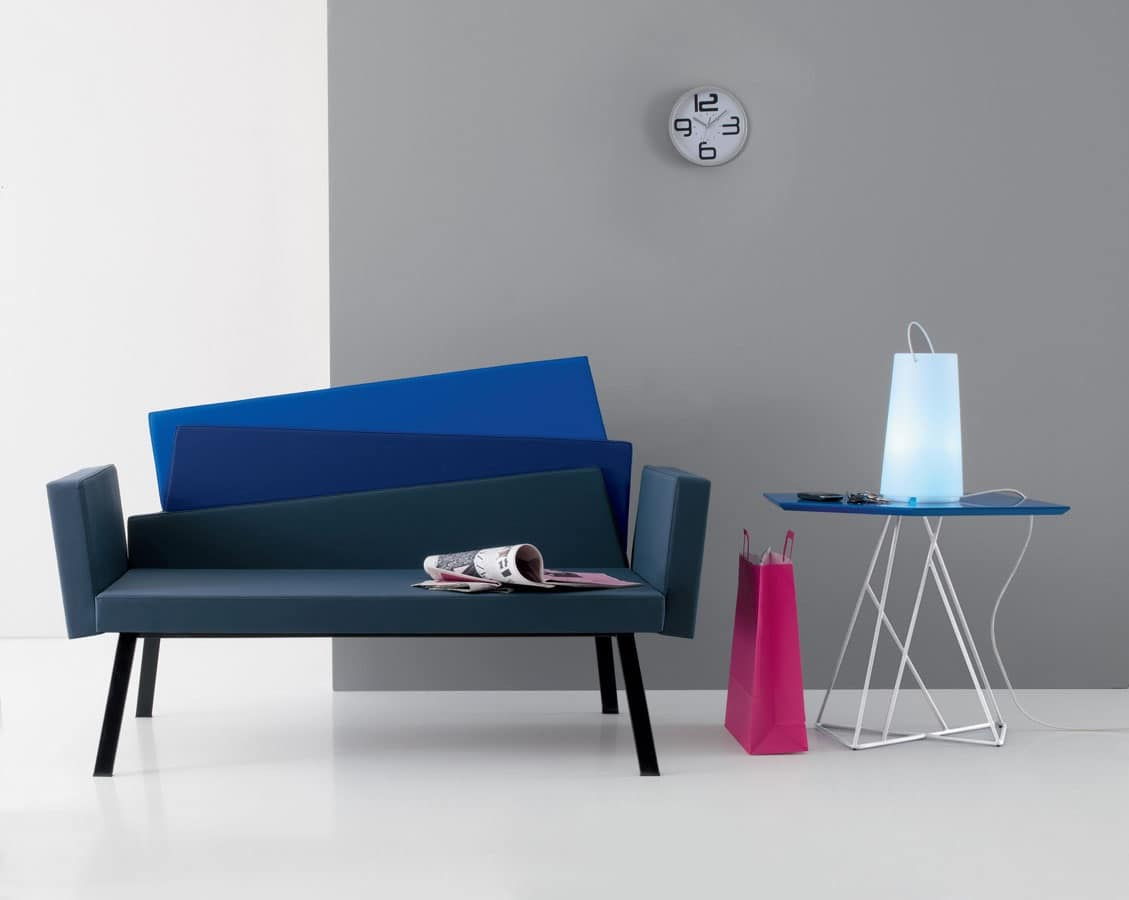 Divano moderno schienale con 3 colori per sala attesa for Colori per sala