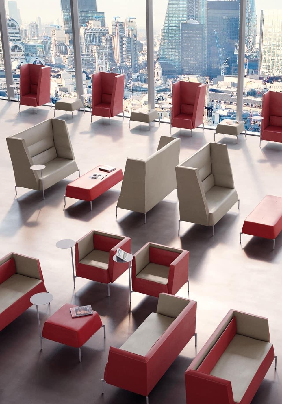 Kendo divano alto, Divano ideale per isolamento acustico, con schienale alto