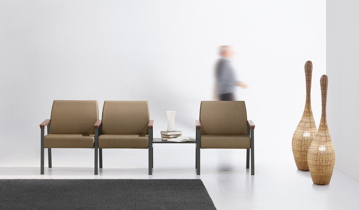 String Bench 3P, Sedute componibili per aree relax