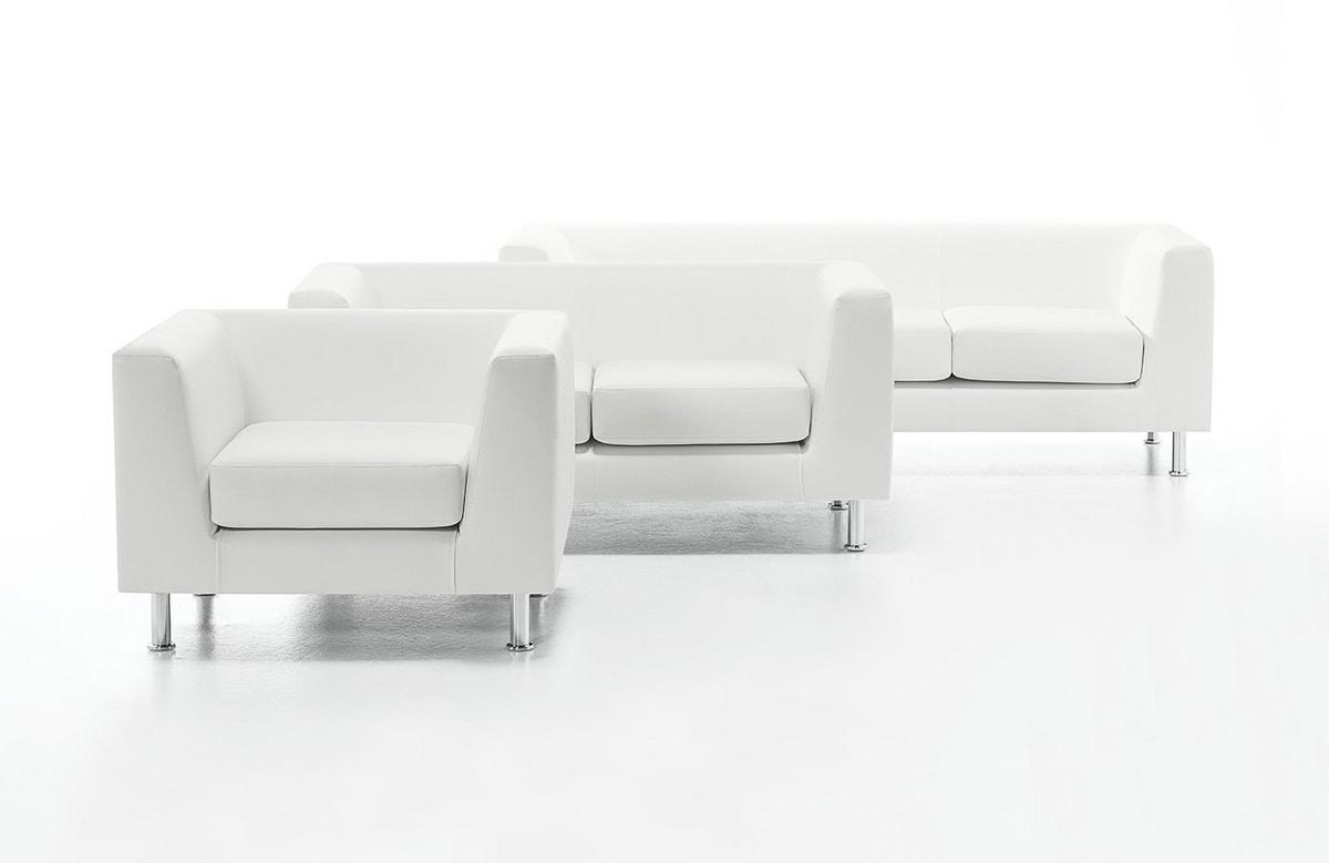 Divano ufficio cool mobili bianco minimalista nel piccolo ufficio a casa accogliente con - Piccolo divano imbottito ...