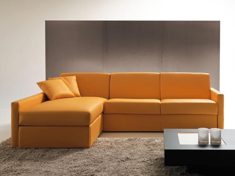 Divano letto con contenitore e penisola per appartamento - Divano letto con penisola prezzi ...