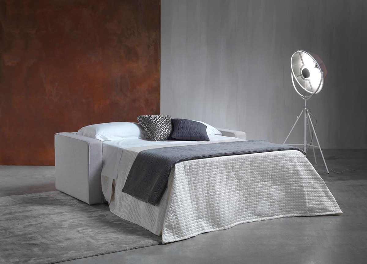 Divano letto con struttura in legno rete elettrosaldata - Immagini divani letto ...