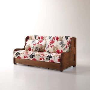Arcimboldo, Divano letto sfoderabile per salotto, stile rustico