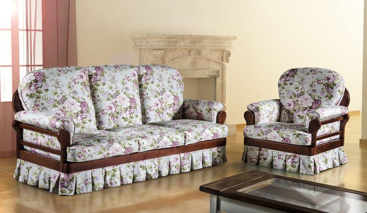 divano classico tessuto sfoderabile ecocompatibile