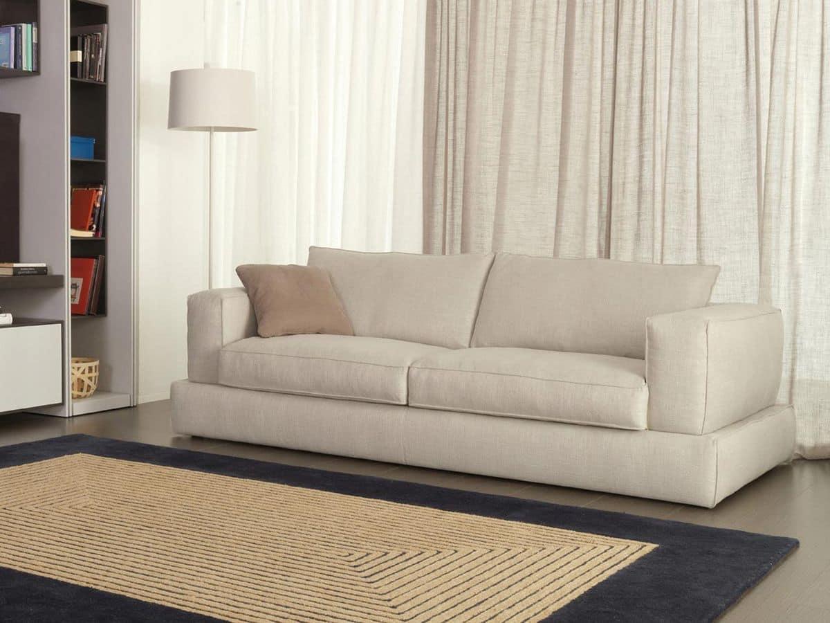 Divano letto moderno rivestimento in tessuto per appartamenti idfdesign - Rivestimento divano costo ...