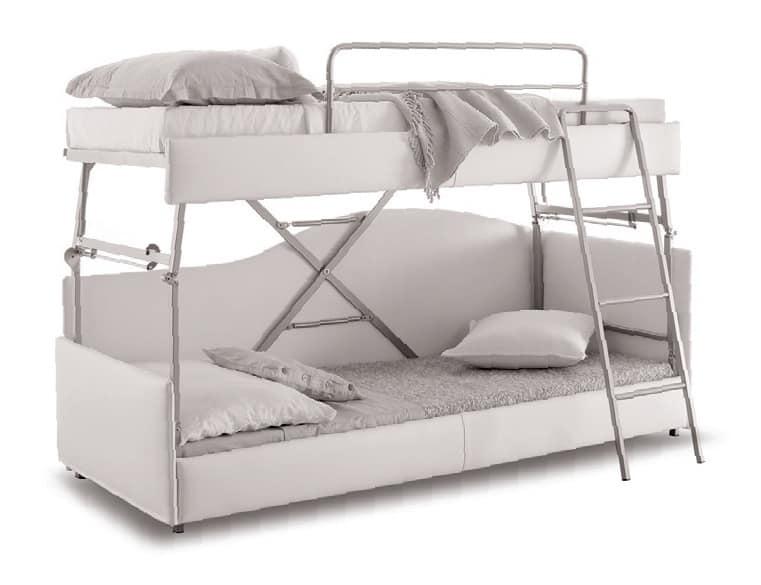 Divano trasformabile in letto castello sfoderabile - Divano che diventa letto a castello ...