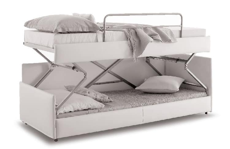 Divano trasformabile in letto castello sfoderabile for Divano letto trasformabile