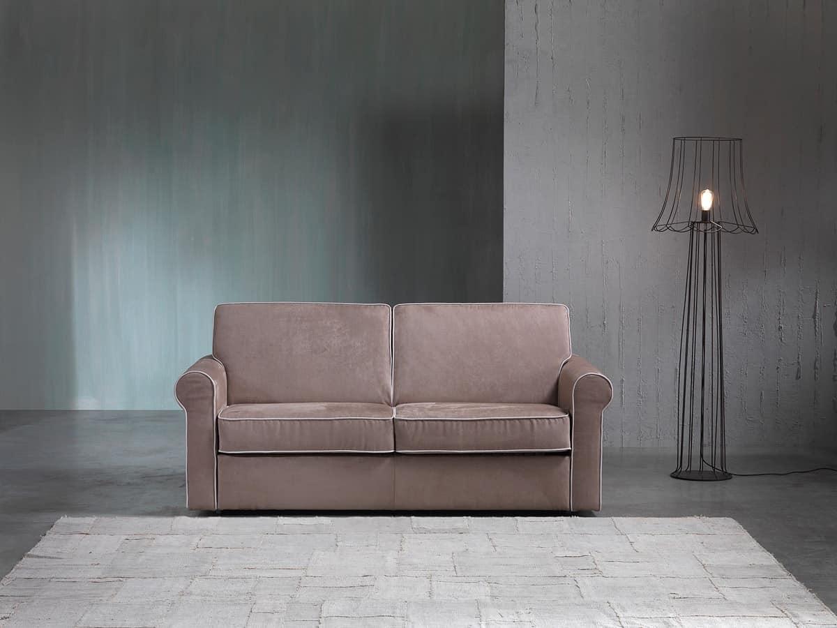 Divano letto in legno imbottito poliuretano per albergo - Immagini divani letto ...