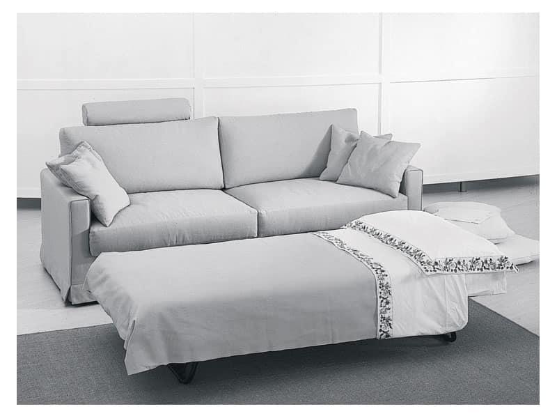 Divano letto moderno varie finiture per appartamenti idfdesign - Divano letto studio ...