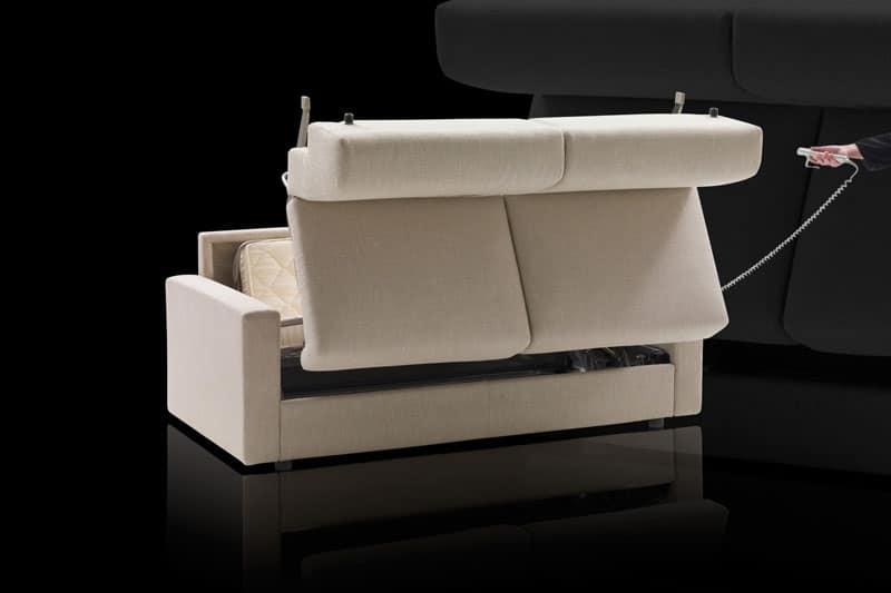 Divano letto apertura elettrica lampo motion idee per - Immagini divani letto ...