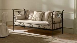 Luigi Filippo sof�, Divano-letto in ferro pieno, lavorato a mano