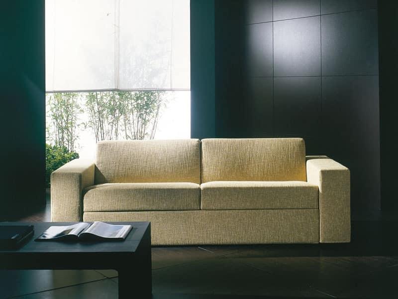 Divano letto ultramoderno trasformabile in letto sfoderabile idfdesign - Smontare divano poltrone sofa ...