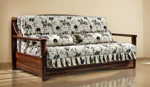 Quebec, Divano letto in stile rustico, ecocompatibile, varie dimensioni