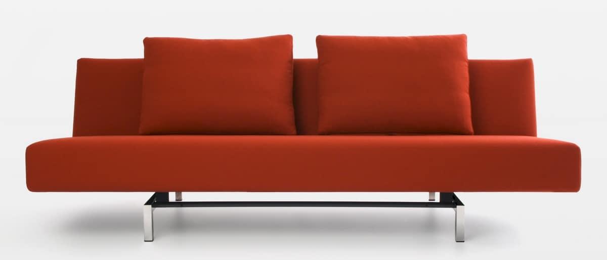 Divano letto struttura in acciaio elegante e for Struttura letto divano