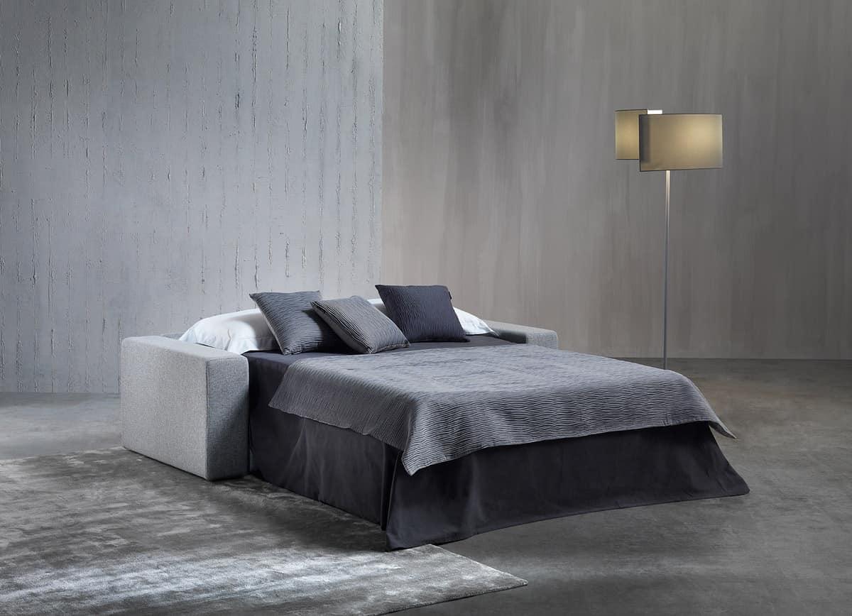 Divano letto in poliuretano con falda acrilica, per casa  IDFdesign
