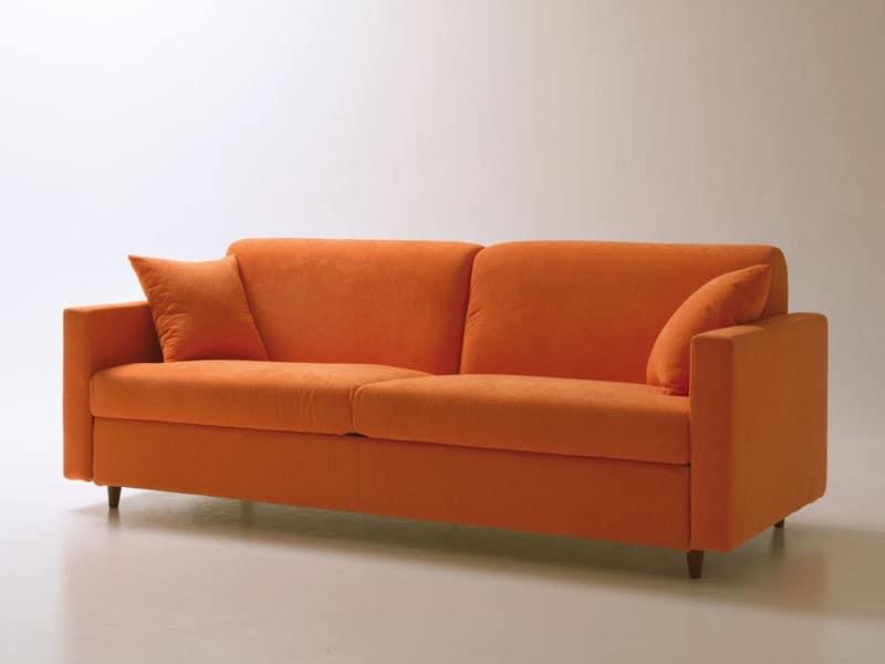 Voyager, Divano letto salvaspazio, con apertura girevole, sfoderabile