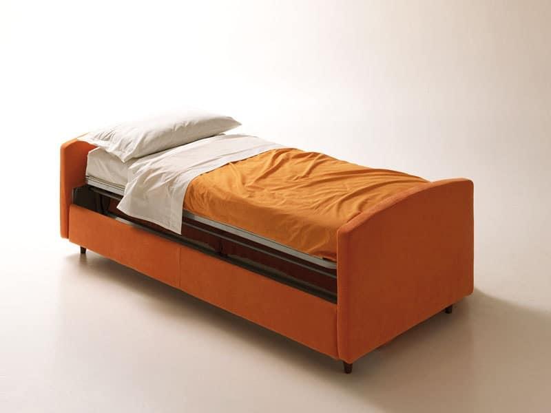 Divano letto salvaspazio con apertura girevole sfoderabile idfdesign - Divani letto salvaspazio ...