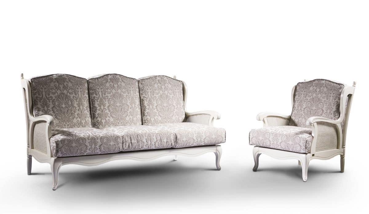 Divano letto rustico tessuto sfoderabile varie finiture idfdesign for Divani e divani divani letto