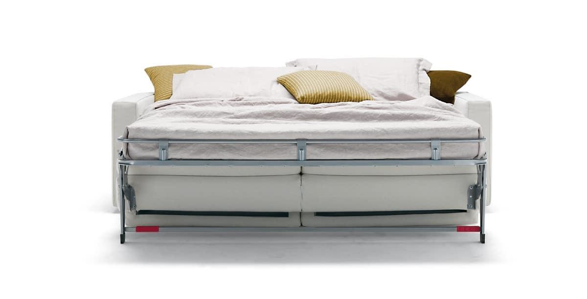 Divano letto con piano ortopedico sfoderabile idfdesign for Divano letto materasso ortopedico