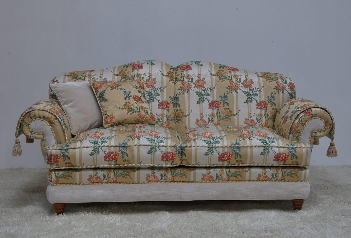 Divano Tessuto Floreale : Divano classico in tessuto floreale idfdesign