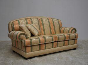 Toledo divano, Divano classico con tessuto rigato