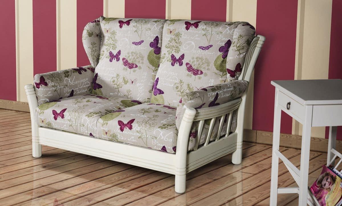 Divanetto a due posti rivestito in tessuto idfdesign for Prezzi per rivestire un divano
