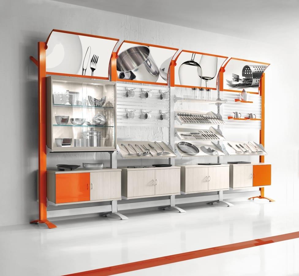 Espositori da parete componibili per negozio di casalinghi - Casalinghi design ...