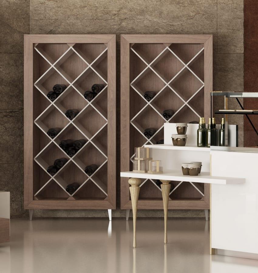 Mobile espositore per bottiglie vino idfdesign for Scaffali per vino ikea