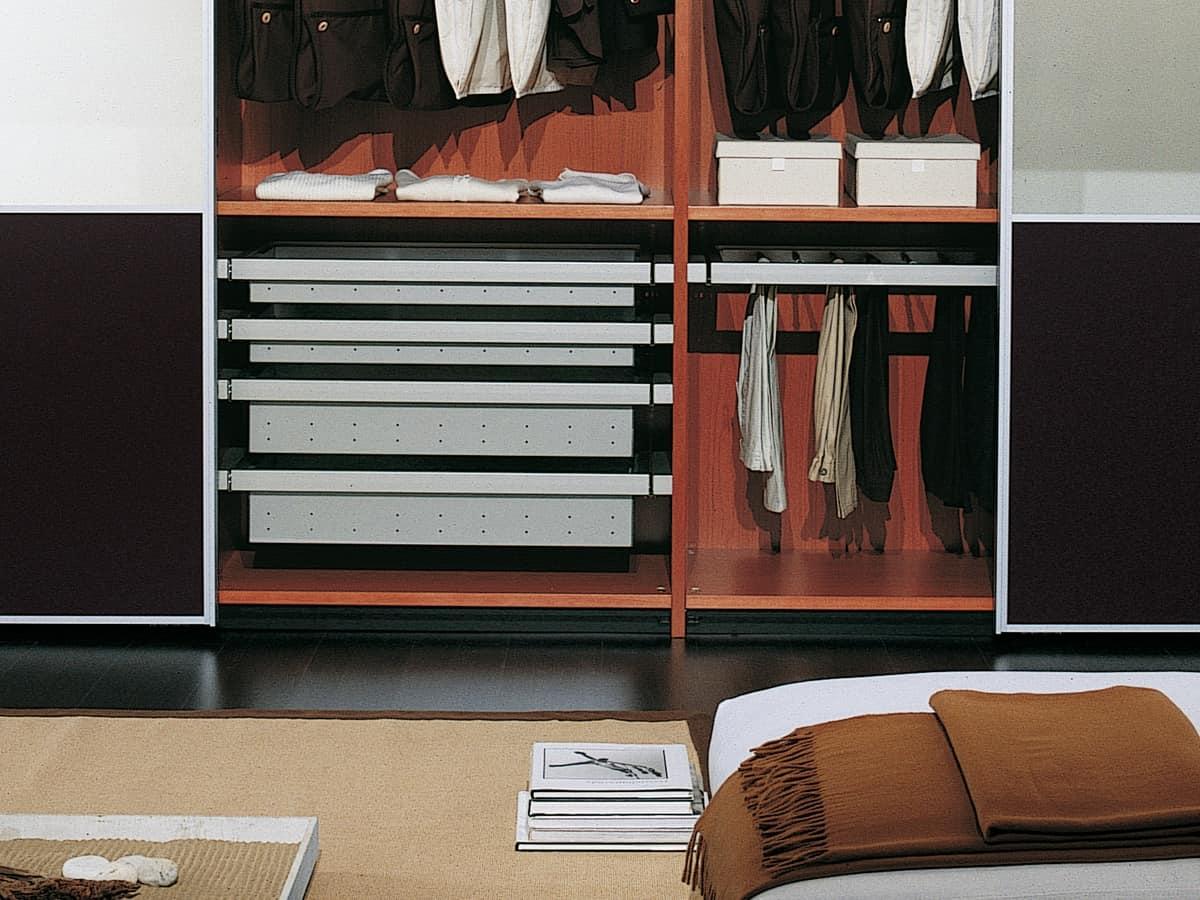 Guardaroba dotato di vari accessori per ville moderne - Attrezzature cabine armadio ...