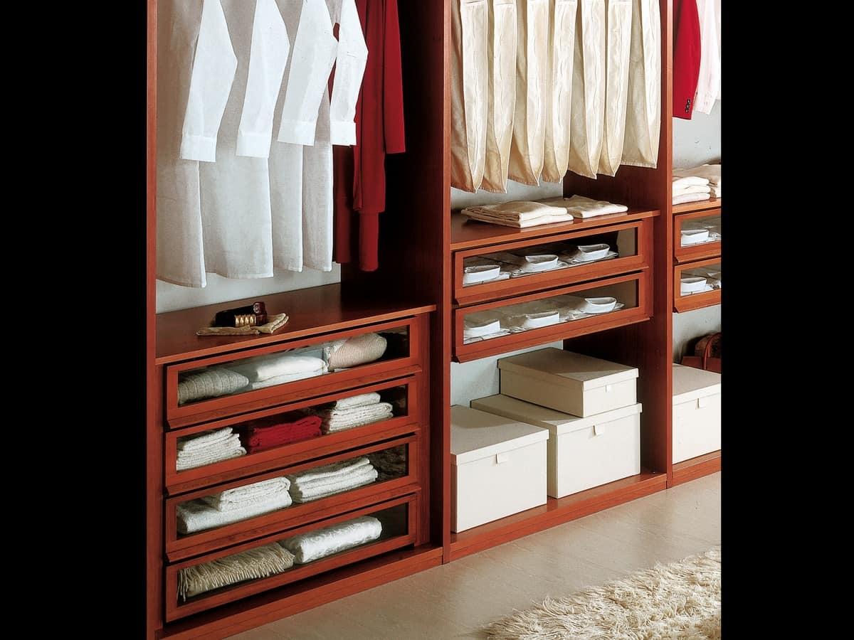 Guardaroba moderno con accessori per camere da letto idfdesign - Attrezzature per cabine armadio ...