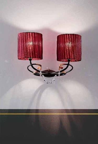 Lampade da parete per lussuosi residence e alberghi idfdesign - Applique da parete classiche ...