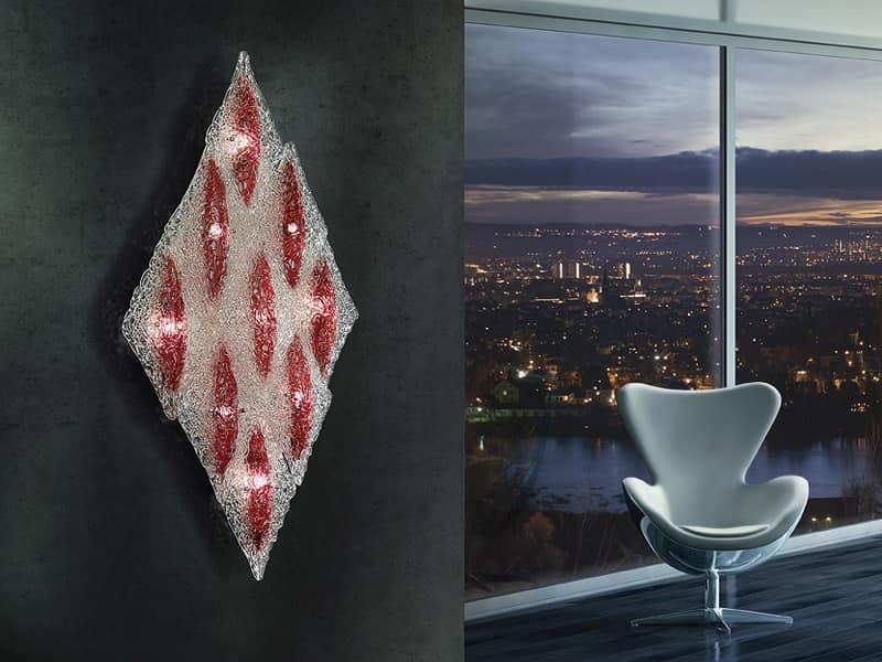 Plafoniere Da Muro : Plafoniera da parete romboidale struttura in metallo idfdesign