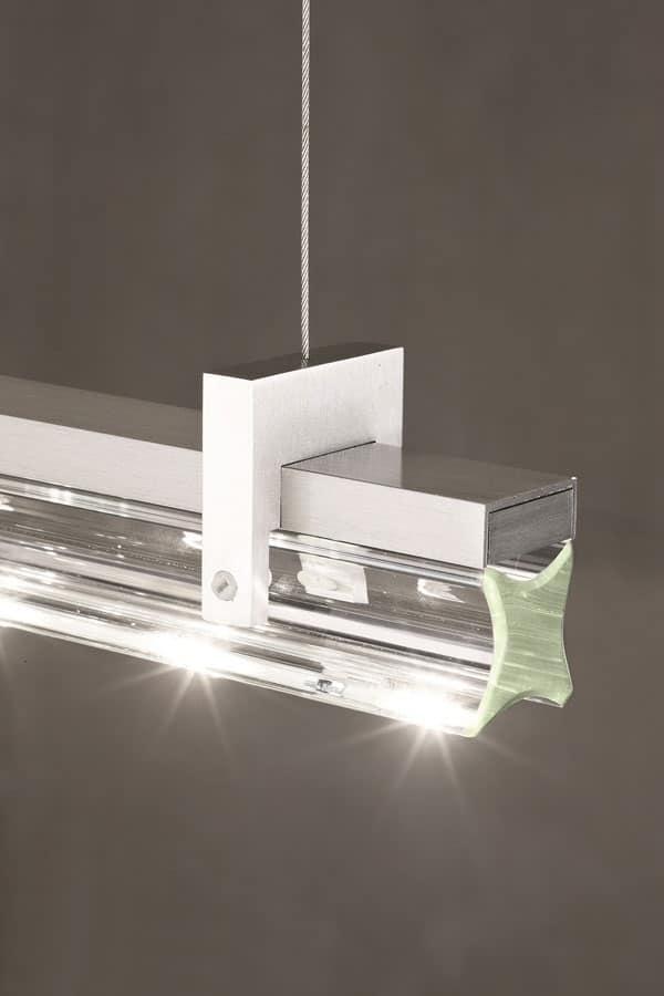 Lampada elegante a led per soggiorno idfdesign - Illuminazione soggiorno led ...