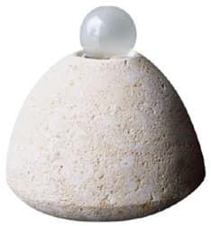 Bulb, Lampada da terra, in pietra, per lo studio e la casa
