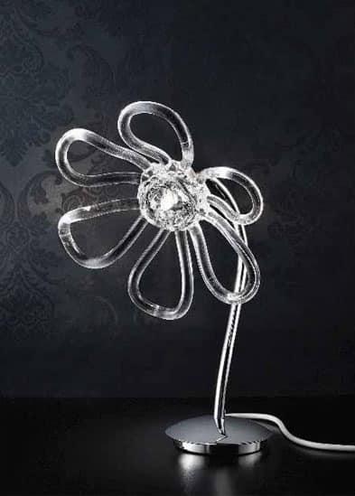 Daisy lumetto, Lampada da tavolo con diffusori in vetro fatti a mano