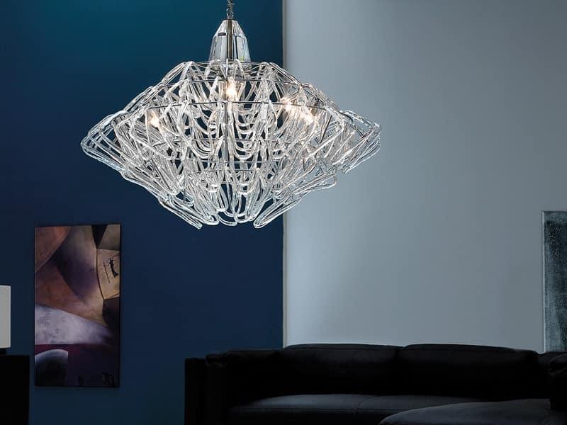 Lampade In Vetro A Sospensione : Lampada a sospensione regolabile in altezza vetro di murano