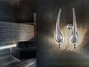 Ego applique, Lampada da muro in ottone a 2 luci, stile classico