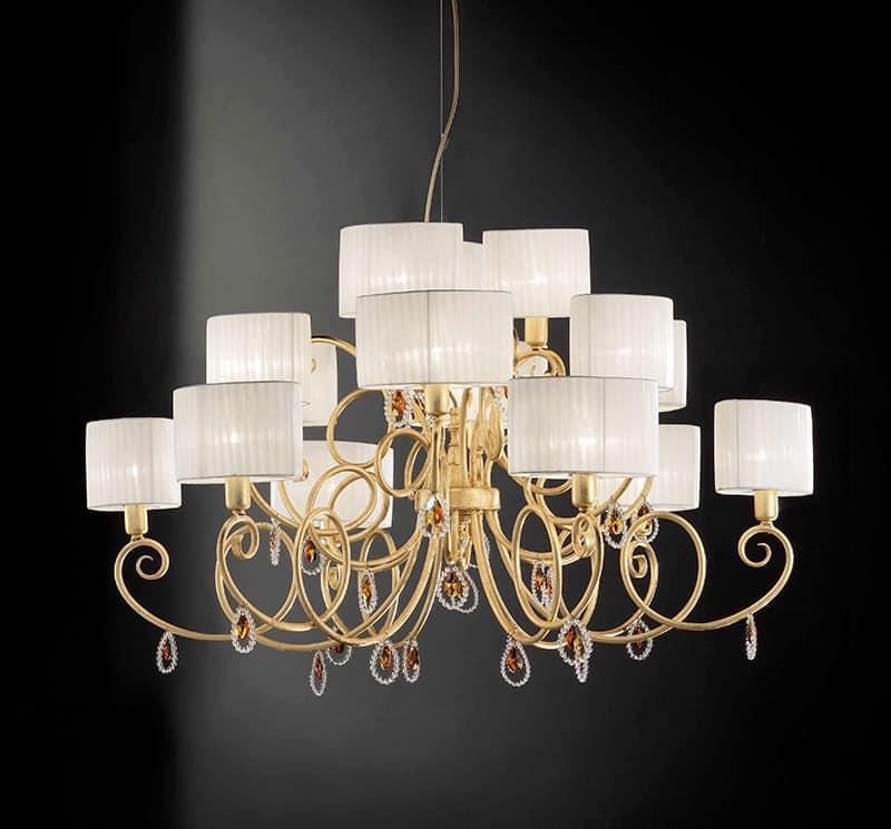 Elena lampadario, Lampada a soffitto con pendenti in cristallo